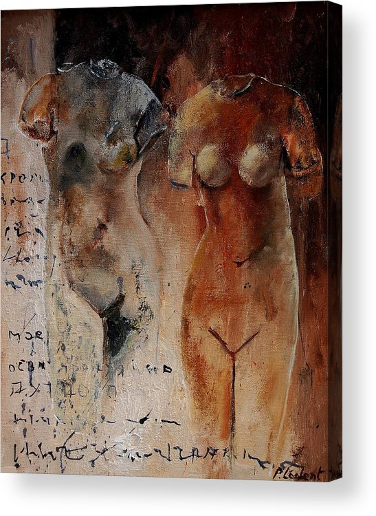 Nude Acrylic Print featuring the painting Roman Nudes 45 by Pol Ledent