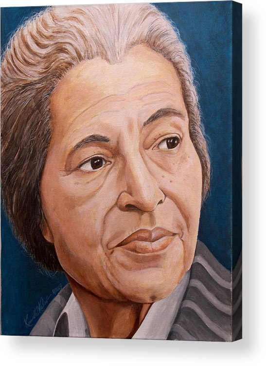 Painting Acrylic Print featuring the painting Rosa Park by Kenneth Kelsoe