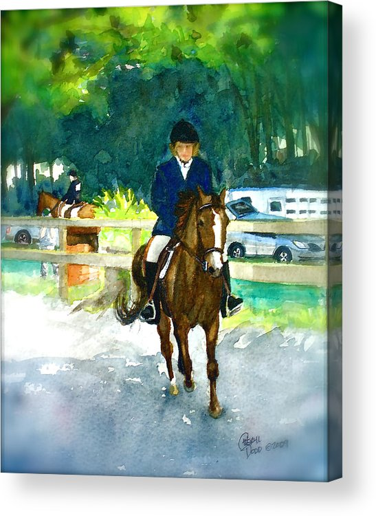 Morgan Acrylic Print featuring the painting Roxy And Prissy by Cheryl Dodd