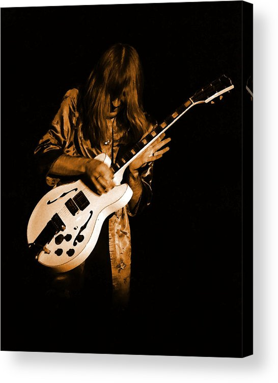 Rock Art Acrylic Print featuring the photograph Rush 77 #15 Enhanced In Amber by Ben Upham