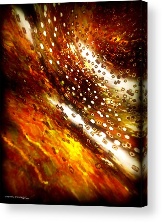 Abstract Acrylic Print featuring the painting Rustic by Dreamlight Creations