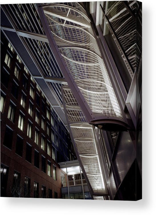 Architecture Acrylic Print featuring the photograph Seaport2 by Robert Ruscansky