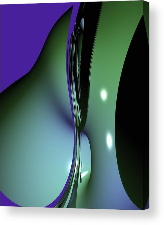 Digital Art Acrylic Print featuring the digital art sensuoso II by Caren Appel