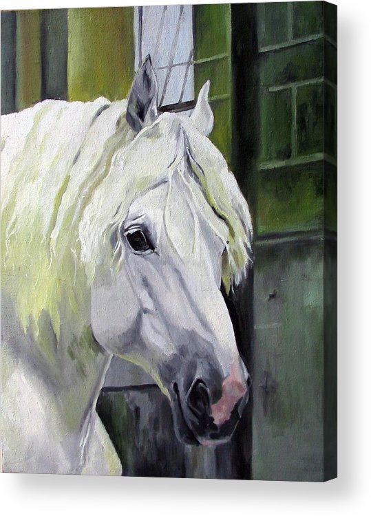 Horse Acrylic Print featuring the painting Shadowfax by Nel Kwiatkowska