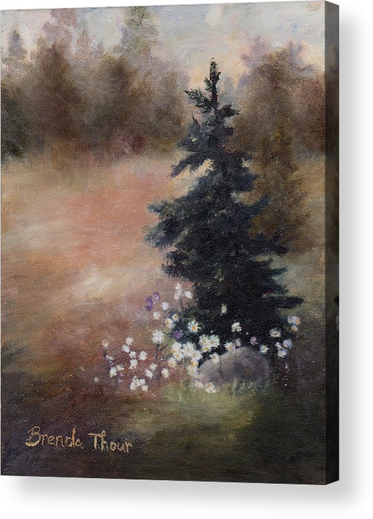Pine Acrylic Print featuring the painting Simplicity by Brenda Thour