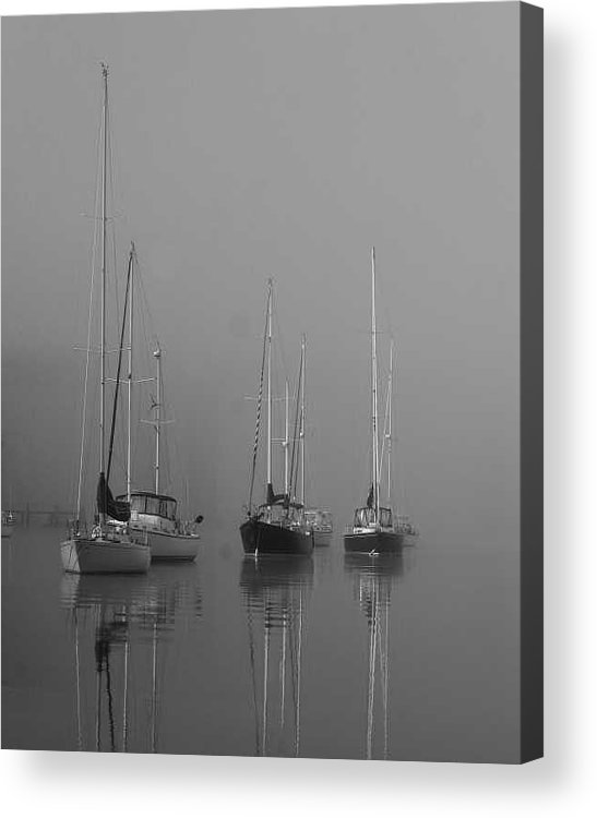 Boat Acrylic Print featuring the photograph Sleeping Yachts by Arthur Sa