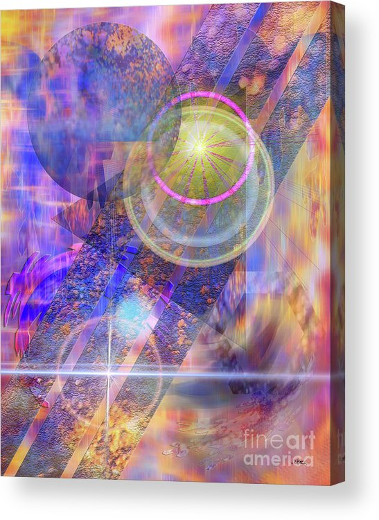 Solar Progression Acrylic Print featuring the digital art Solar Progression by John Beck