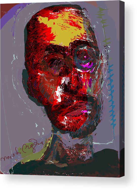 Self Portrait Acrylic Print featuring the painting Sp82708 by Noredin Morgan