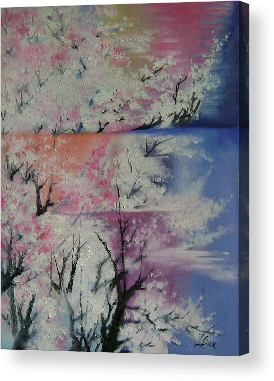 Abstract Acrylic Print featuring the painting Spring by Lian Zhen