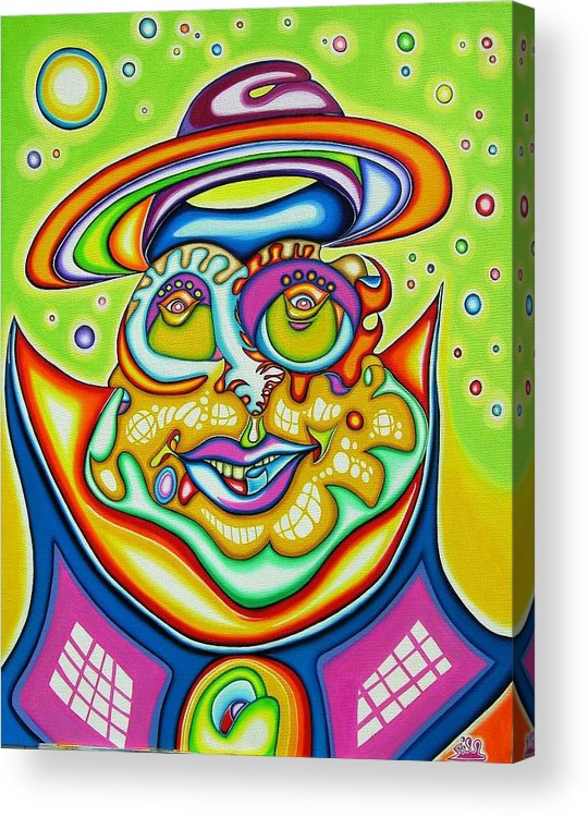 Fantasy Acrylic Print featuring the painting Starman Prophet by      Gillustrator