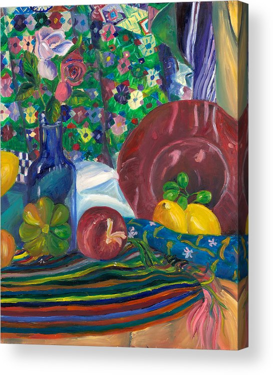 Still Life Acrylic Print featuring the painting Still Life by Allison Gammon