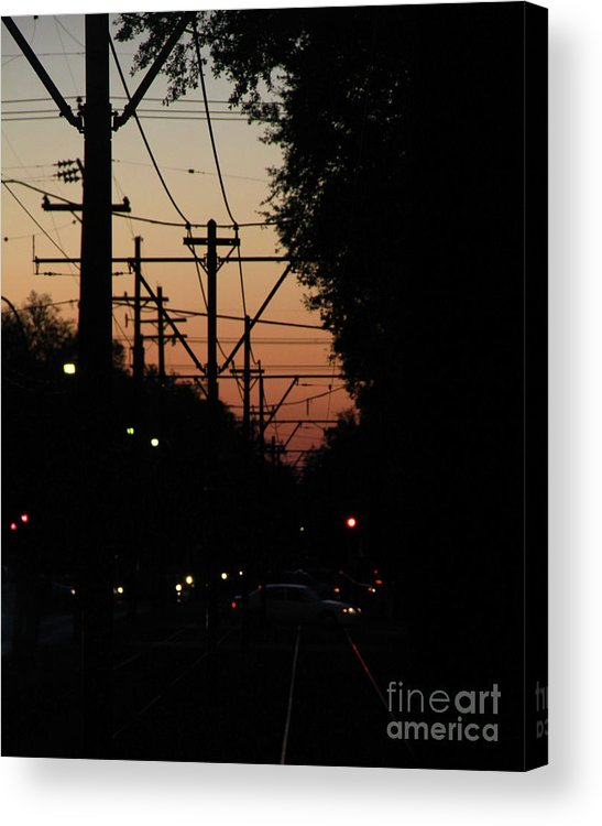 Street Acrylic Print featuring the photograph Street Car Sunset by James Foshee