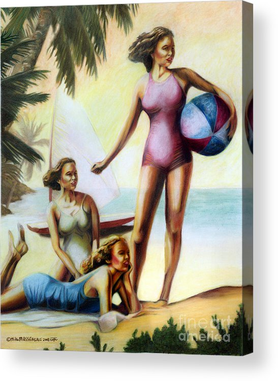 Tropical Art Acrylic Print featuring the painting Summer Holiday by Mike Massengale