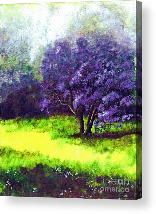 Fine Art Print Acrylic Print featuring the painting Summer Mist by Patricia Griffin Brett