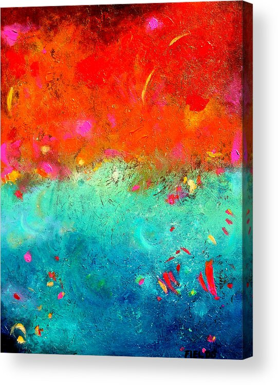 Bold Acrylic Print featuring the painting Summer Sky by Karen Fields
