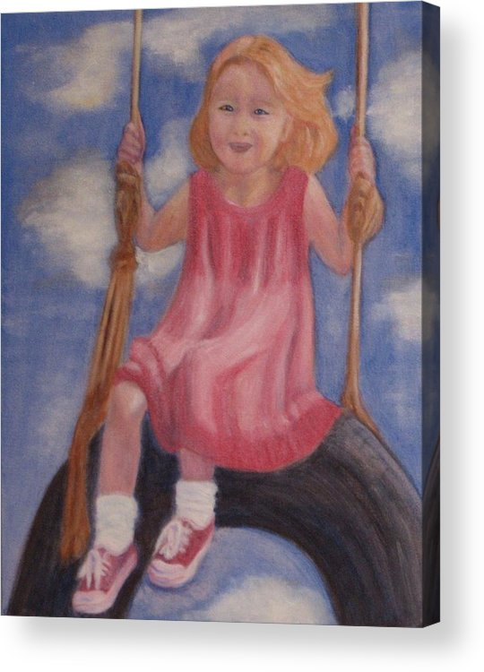 Child Acrylic Print featuring the painting Swingin by Patricia Ortman