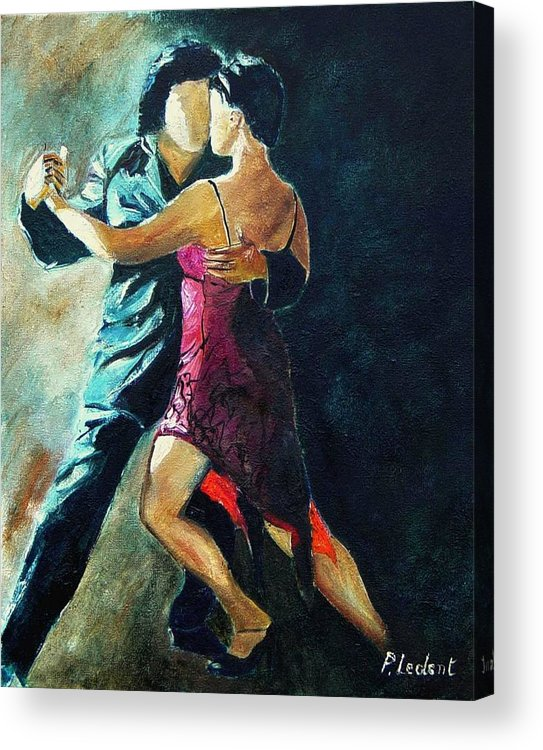 Tango Acrylic Print featuring the painting Tango by Pol Ledent