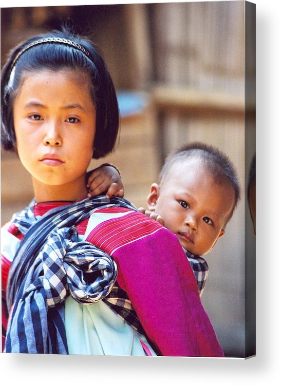 Thailand Children Acrylic Print featuring the photograph Thai Children by Linda Russell