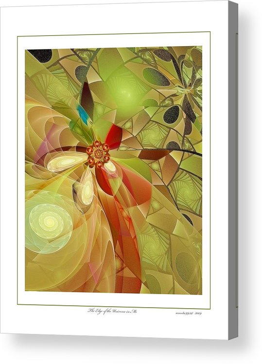 Fractal Acrylic Print featuring the digital art The Edge Of The Universe In Me by Gayle Odsather