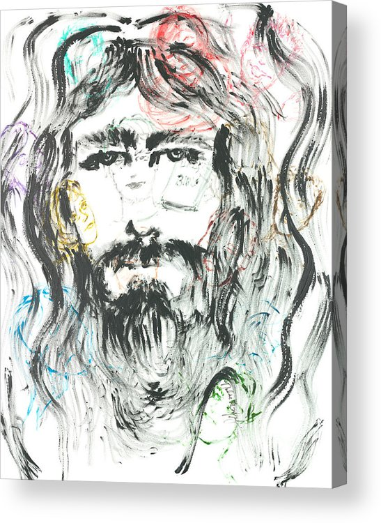 Jesus Acrylic Print featuring the painting The Emotions Of Jesus by Nadine Rippelmeyer