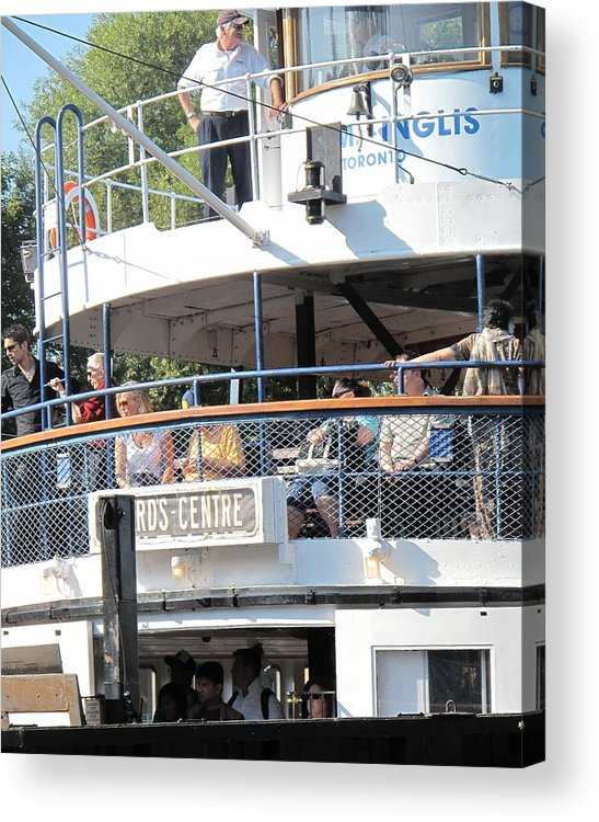 Ferry Acrylic Print featuring the photograph The Ferry Arrives by Ian MacDonald