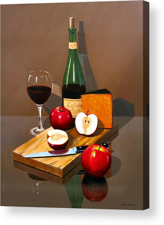 Still Life Acrylic Print featuring the painting The Good Life by Brooke Lyman