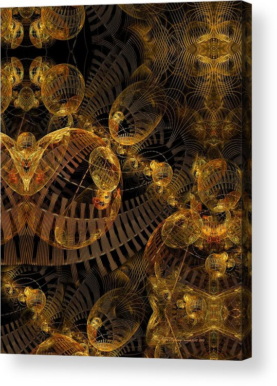 Fractal Acrylic Print featuring the digital art The Mystic Highway by Gayle Odsather