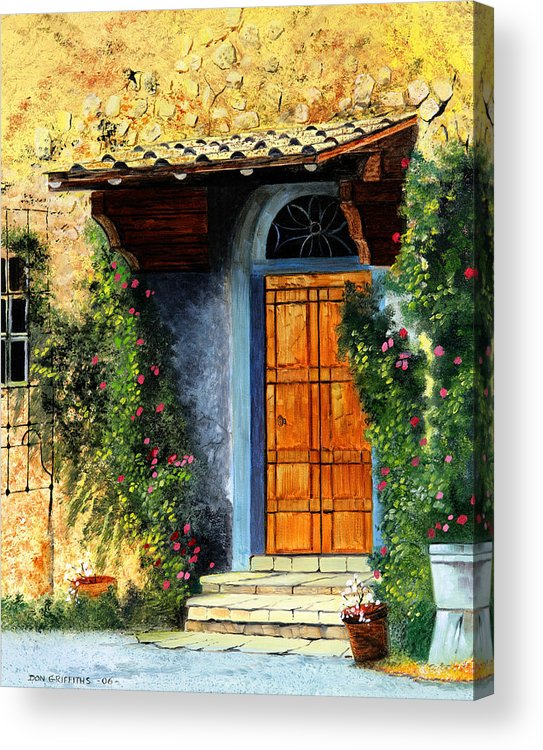 Landscape Acrylic Print featuring the painting The Portal by Don Griffiths