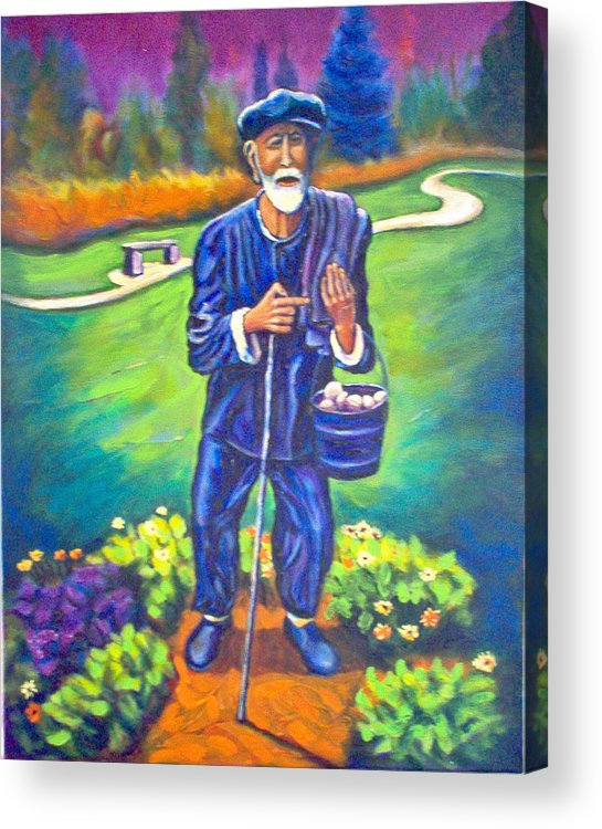 Acrylic Print featuring the painting The Potato Man by Steve Lawton