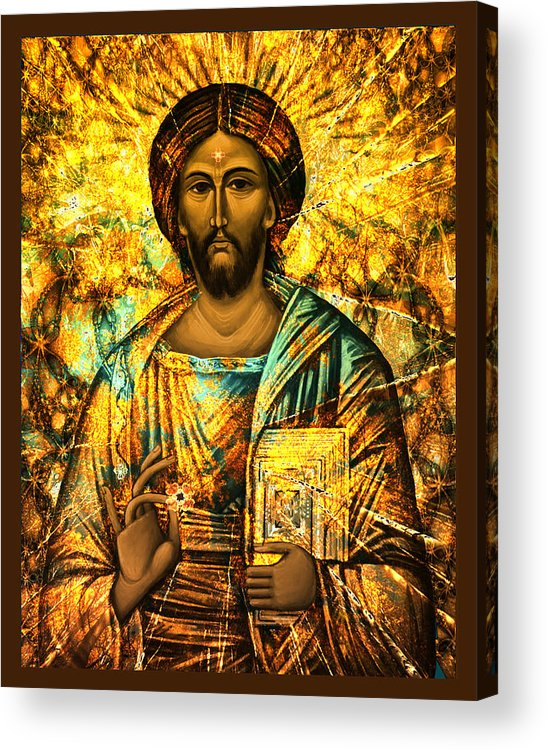 Spirituality Acrylic Print featuring the digital art The Teacher by Christine Gentilhomme