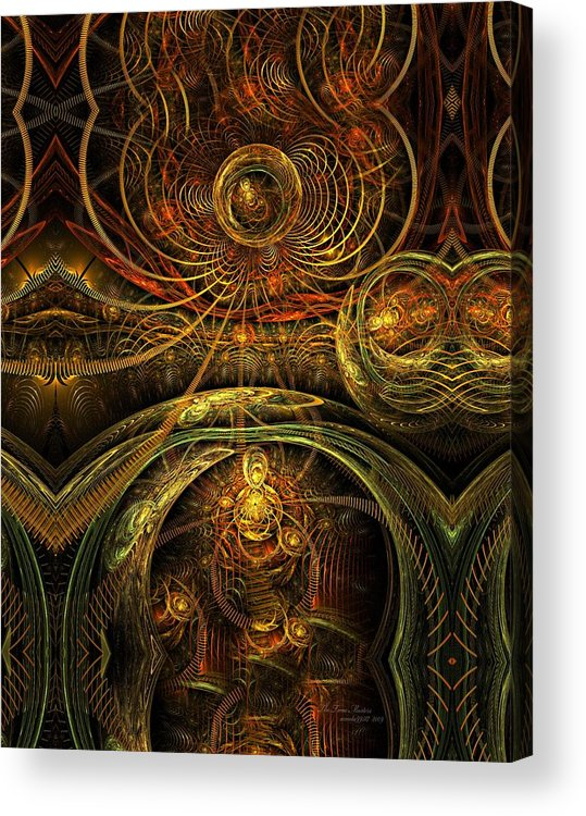 Fractal Acrylic Print featuring the digital art The Time Masters by Gayle Odsather