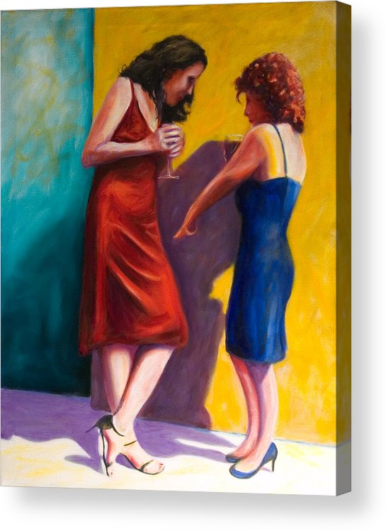 Figurative Acrylic Print featuring the painting There by Shannon Grissom