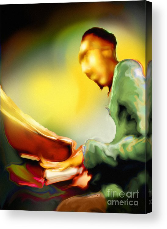 Jazz Art Acrylic Print featuring the painting Tickl'n by Mike Massengale