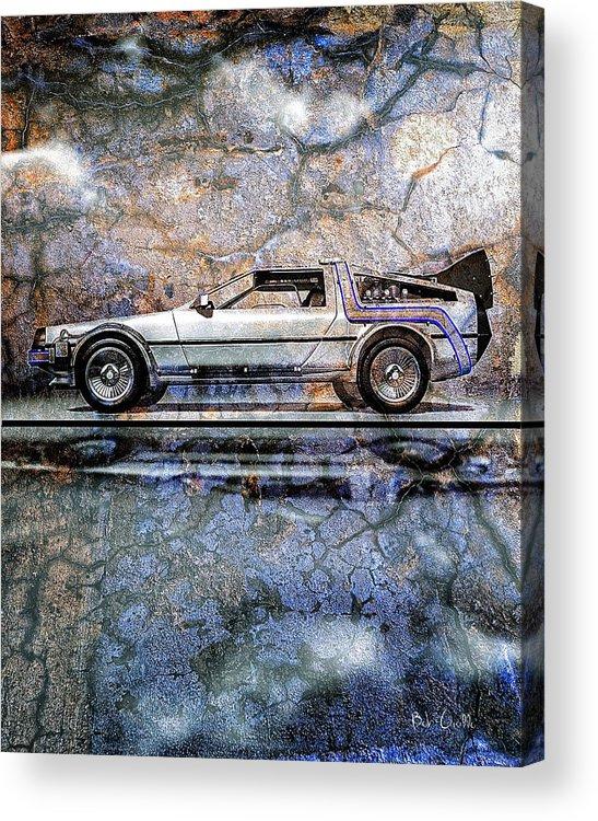 Back To The Future Acrylic Print featuring the digital art Time Machine Or The Retrofitted Delorean Dmc-12 by Bob Orsillo