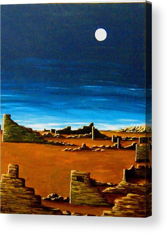 Anasazi Acrylic Print featuring the painting Timeless by Diana Dearen