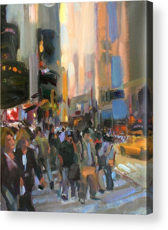 New York Acrylic Print featuring the painting Times Square by Merle Keller