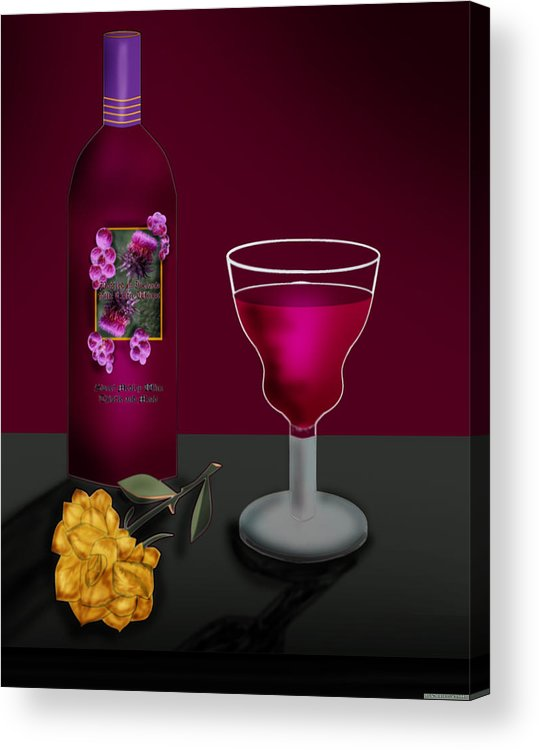 Still Life Acrylic Print featuring the painting Tools Of The Trade by Anne Norskog