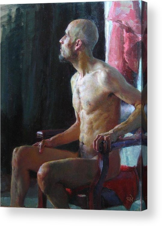 Portrait Acrylic Print featuring the painting Towards Light by Snehal Page
