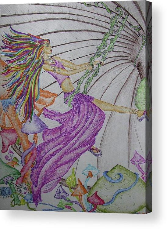 Pixie Acrylic Print featuring the mixed media Trippin The Light Fandango by Carol Frances Arthur