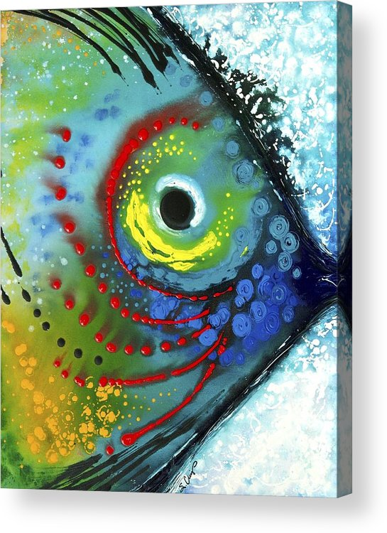 Animals Art Acrylic Print featuring the painting Tropical Fish by Sharon Cummings