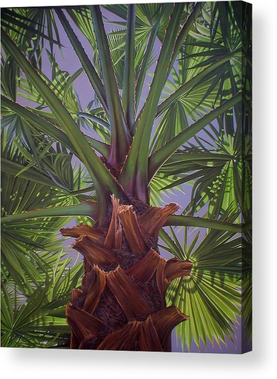Plants Acrylic Print featuring the painting Tropical Shadows by Laine Garrido