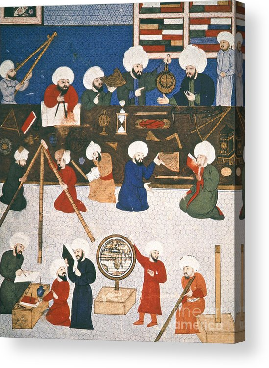 16th Century Acrylic Print featuring the photograph Turkish Astronomers by Granger