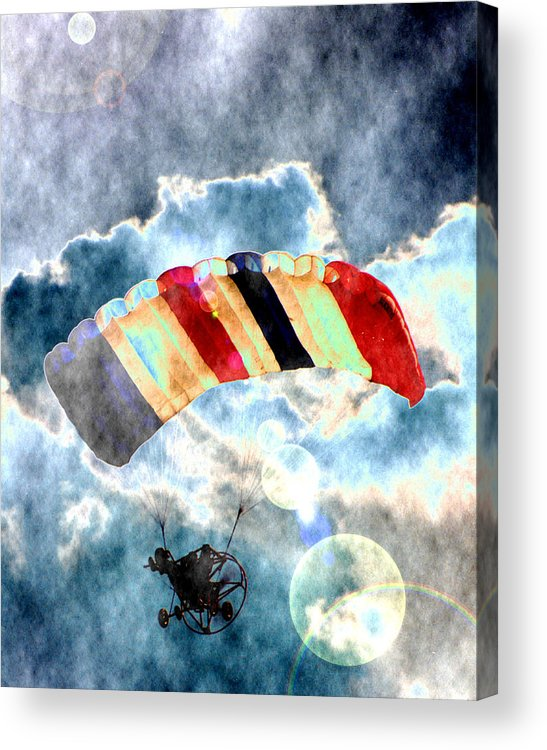 Kite Plane Acrylic Print featuring the photograph Twenty-first Century Icarus by Roger Soule