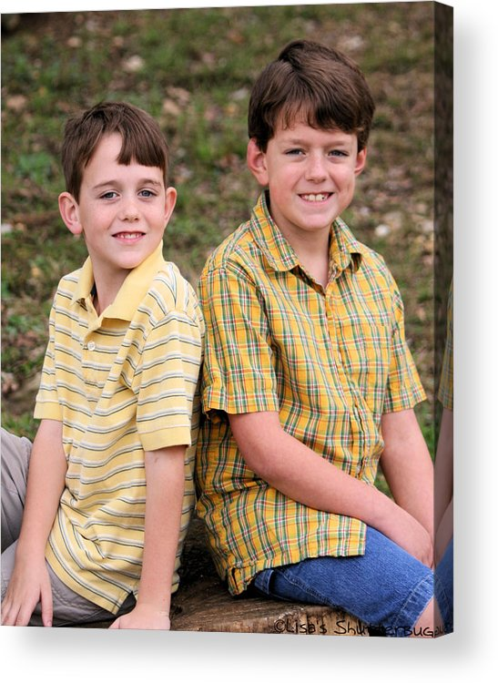 Acrylic Print featuring the photograph Two Boys by Lisa Johnston