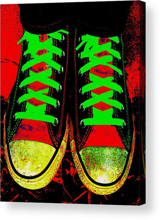 Still Life Acrylic Print featuring the photograph Two Left Feet by Ed Smith