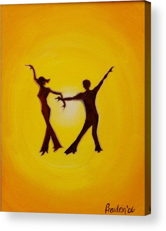 Contemporary Acrylic Print featuring the painting Two To Tango by Glory Fraulein Wolfe