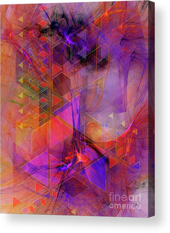 Vibrant Echoes Acrylic Print featuring the digital art Vibrant Echoes by John Beck