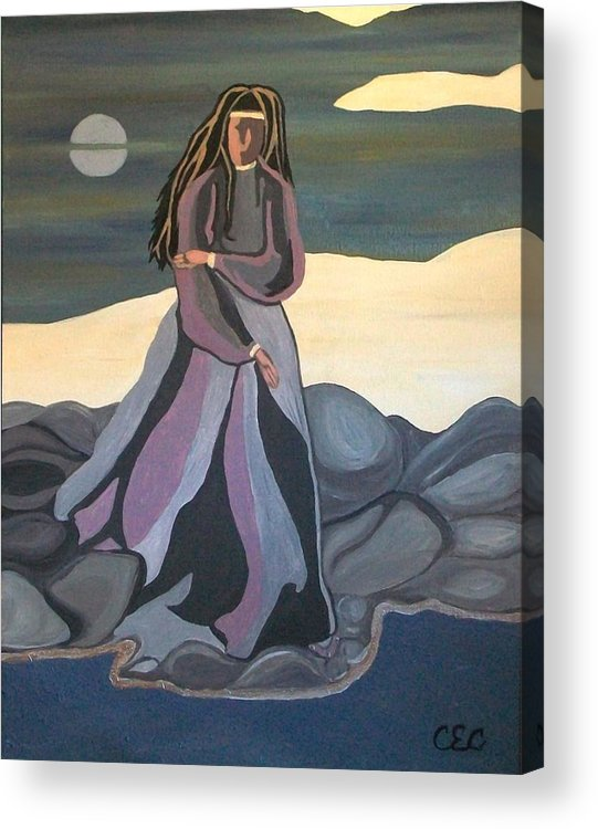 Water Acrylic Print featuring the painting Vigil by Carolyn Cable