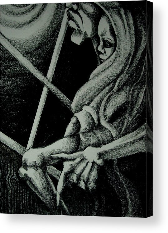Mother Acrylic Print featuring the drawing Waiting by Dannielle Murphy