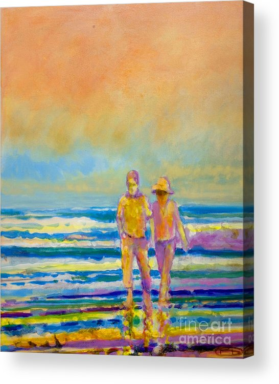 Lovers Acrylic Print featuring the painting Walking Together by Kip Decker